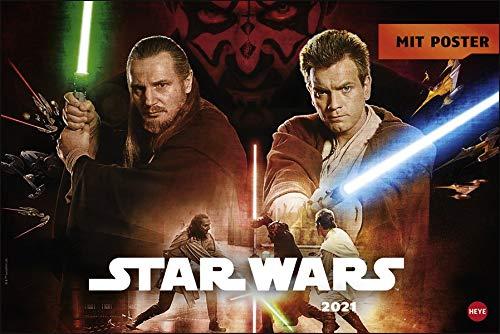 Star Wars Broschurkalender XL 2021 - mit großem Poster - Wandkalender mit Monatskalendarium und Platz für Eintragungen - Format 45 x 30 cm (45 x 60 cm geöffnet)