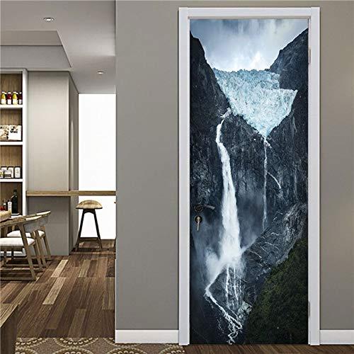 Leileixiao Pegatinas para puerta de escaleras de roca, autoadhesivas, de hierro, para sala, dormitorio, decoración de azulejos de cerámica (color: MT343, tamaño de la pegatina: 90 x 200 cm)