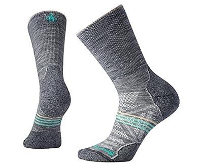 Smartwool Women's PhD Outdoor Light Crew Socks (Light Gray) Medium