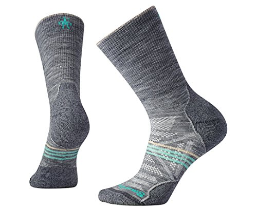 Smartwool Damen Women's PhD Outdoor Crew Socks, Light Gray, M
