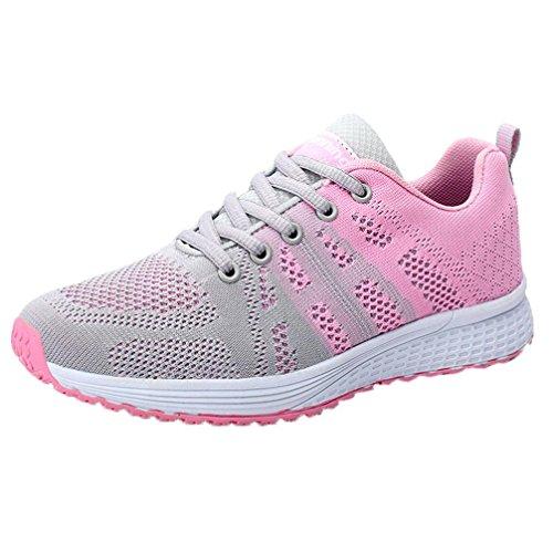 Zapatillas de Deporte para Mujer Otoño 2018 PAOLIAN Zapatos de Cordones Plano Dama Casual Deportivo Cómodo Moda Señora Senderismo Aire Libre y Deporte Calzado de Trabajo