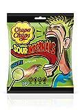 Chupa Chups Sachet De 16 Sucettes Sour Infernal 150 G- Goût Citron, Cola, Pomme, Fraise