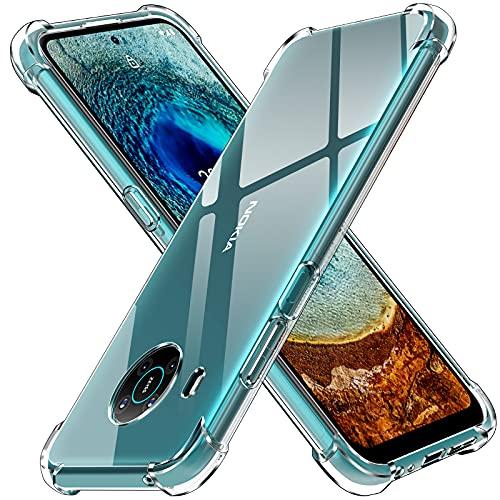 ivoler Klar Silikon Hülle für Nokia X20 / Nokia X10 mit Stoßfest Schutzecken, Dünne Weiche Transparent Schutzhülle Flexible TPU Durchsichtige Handyhülle Kratzfest Hülle Cover