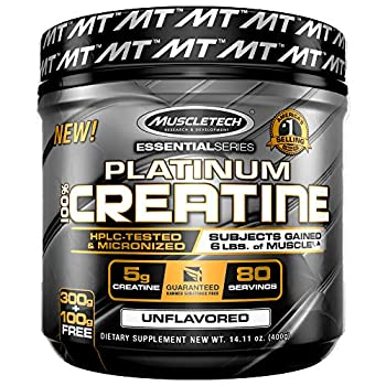Creatine Monohydrate Powder   MuscleTech Platinum Creatine Powder   Pure Micronized Creatine Powder   Muscle Recovery + Muscle Builder for Men & Women   Workout Supplements   Unflavored  80 Servings
