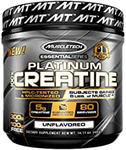 Creatine Monohydrate Powder   MuscleTech Platinum Creatine Powder   Pure Micronized Creatine Powder   Muscle Recovery + Muscle Builder for Men & Women   Workout Supplements   Unflavored (80 Servings)