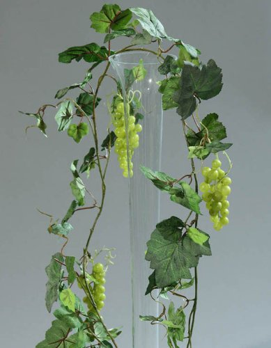 Ghirlanda di foglie artificiali con uve 180 cm