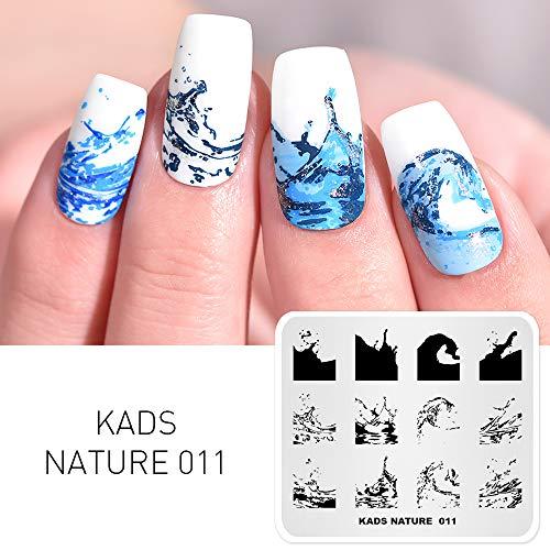 KADS Nagel Stamping Platte Ozean Nail art Stempel Vorlage DIY Bild Vorlage Maniküre Stamp Platte Schablone Werkzeuge (NA011)