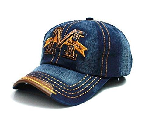 morefaz Unisex Baumwolle Baseball Cap M Jeans Sport Mütze Baseballkappe Snap Back Trucker (Blue) MFAZ Ltd