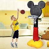 FANGX Multifonctionnel Support De Panier De Basket-Ball pour Enfants,Support De Basket Réglable en Hauteur Intérieur Et Extérieur Jouets MusicauxDe Basket-Ball pour Enfants