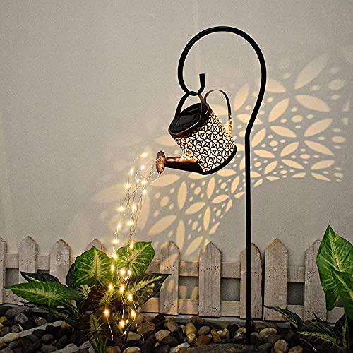 Star Dusche Licht,Solar Gießkanne Fairy Garden Light,Solarlaterne für Außen, LED Solar Laterne,Garten Dekoration Wegeleuchten,Gießkanne Mit Beleuchtung,Garten Solarlampen