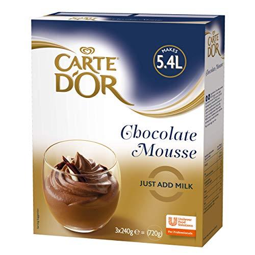 Carte D'Or Chocolate Mousse Postre Mezcla en polvo, 720 g (hace 5,4 litros)