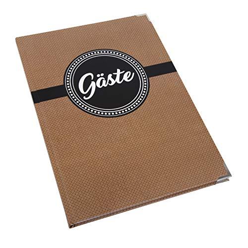 Logbuch-Verlag Gästebuch schlicht braun schwarz weiß GÄSTE Buch A4 - leer Blanko ohne Vorgaben...