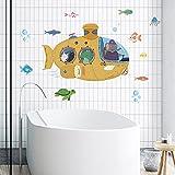 whmyz Submarine Seabed Park Stickers casa de los niños Acuario baño Pared Papel Autoadhesivo 30 * 90 cm