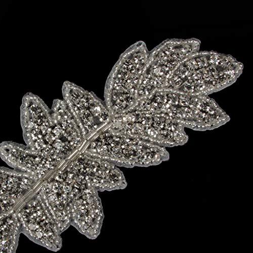 Ab Hierro Cristal Sobre Apliques Para La Boda Vestido De Novia Decoracion Bricolaje