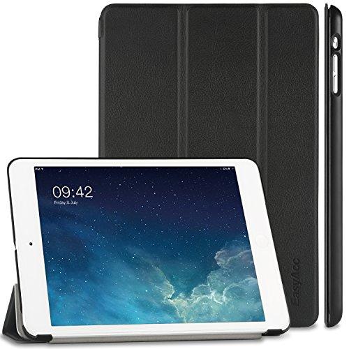 EasyAcc Ultra Slim Hülle Kompatibel mit iPad Mini 1/2/3, Ledertasche Flip Hülle Smart Cover mit Wake Up & Standfunktion Kompatibel mit iPad Mini/iPad Mini 2/iPad Mini 3 (2014) - Schwarz, Ultra Dünn