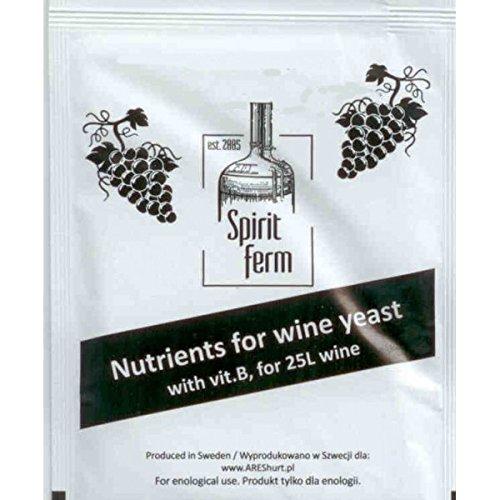 Nutriente de levadura para fermentación de vino, cerveza o alcohol caseros