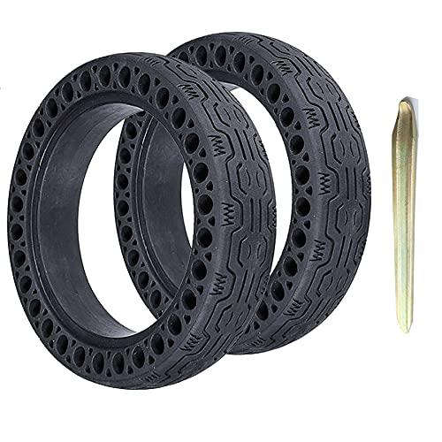 DPGPLP Neumáticos de Scooter eléctrico de 8.5 Pulgadas, 2 neumáticos sólidos Delanteros Traseros, Elasticidad y Durabilidad, neumático a Prueba de explosiones con Palanca, para reemplazo de Ruedas
