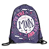 Drawstring Backpack Sports Gym Bag for Women Men, D2470 Harvest Season With Sky Clouds Earth Shooting Stars Valentines Wish