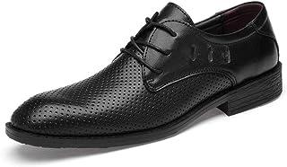 Dingziyue - Scarpe da uomo in pelle, da uomo, stile casual, da uomo, colore: nero, 46