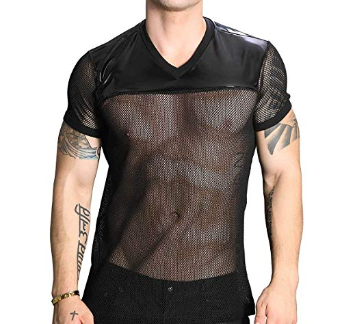 Andrew Christian Herren T-Shirt Football Tee 10268, schwarz XL