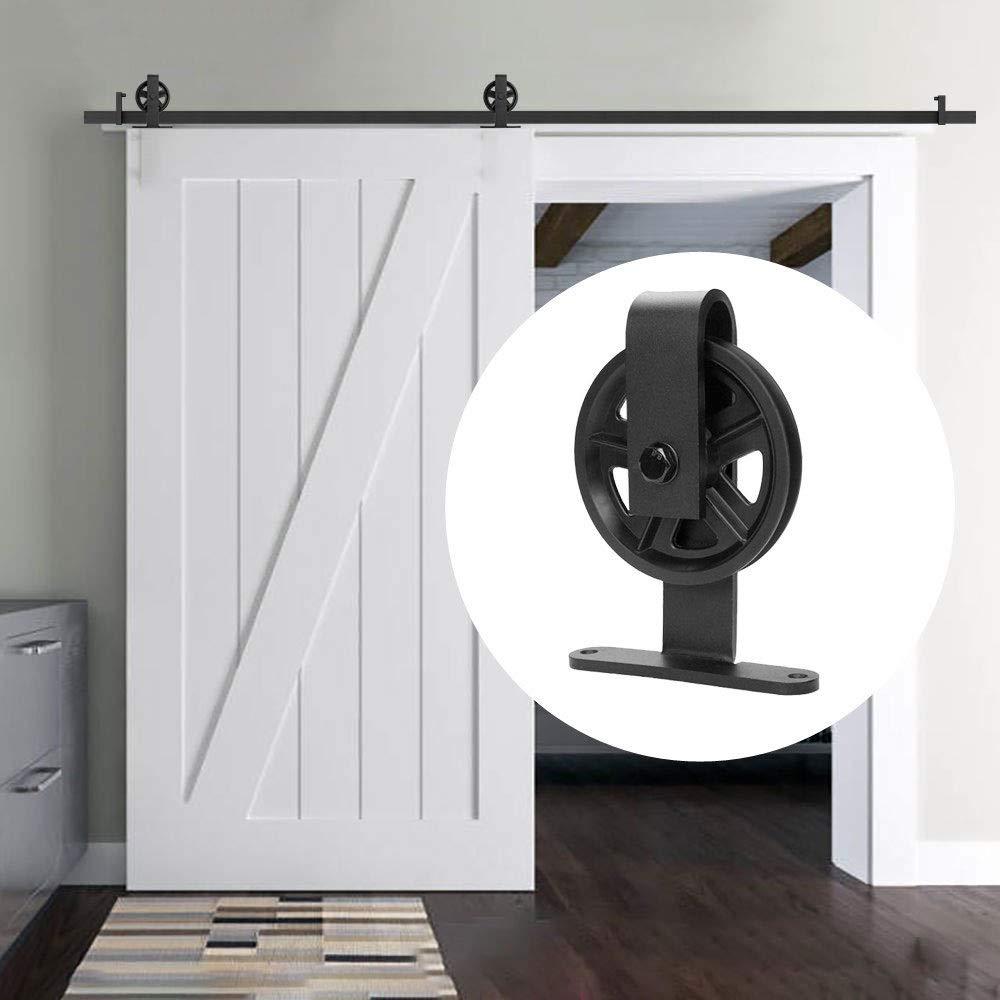 Deslizar la puerta de granero bolsa de piezas, correderas armario individual Kit, montado en la pared de metal Percha enrollables individuales deslizamiento, retro País (Size : 1.6M-Single door): Amazon.es: Bricolaje y herramientas