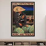 BabyElephant Mariachi Man Poster Easily Distracted by Music and Tequila Poster Home Living Decor Poster