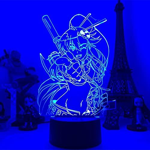 Anime 3D lámpara Gurren Lagann Simon LED noche luz para dormitorio decoración noche lámpara Tengen Toppa Gurren Lagann regalo acrílico neón