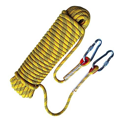 Corda da arrampicata per esterni, 2 moschettoni, corda ad alta resistenza con diametro di 8 mm,...
