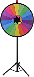 "WinSpin 30"" Editable Color Prize Wheel of Fortune 18 Slot Floor Stand Tripod Spin Game Tradeshow Carnival"