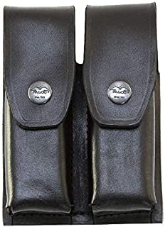 Falco Holsters Holster for Steyr L40-A1 - Leather Double Magazine Pouch - Old-World Craftsmanship (25/2)