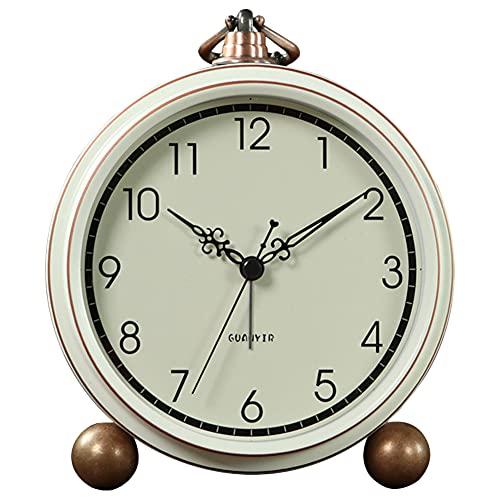 Reloj Despertador clásico Retro, Metal silencioso, Antiguo, Reloj de Cuarzo, Funciona con Pilas,...
