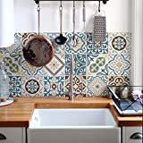 Paquete de 24 pegatinas de PVC para decoración de azulejos, de vinilo para baño y cocina, 10 x 10 cm, fabricadas en Italia, PS00208