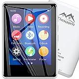 Timoom Reproductor MP3, 2.8' Pantalla táctil 5.0 Bluetooth Mp4 32GB con auriculares, Altavoz de audio de alta fidelidad Ampliable hasta 128GB Radio FM Grabaciones con podómetro inteligente,Blanco