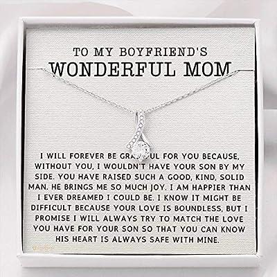 Globright My Boyfriends Mom Gifts, Boyfriend's Mom Necklace for Mother's Day 1050b Standard Box
