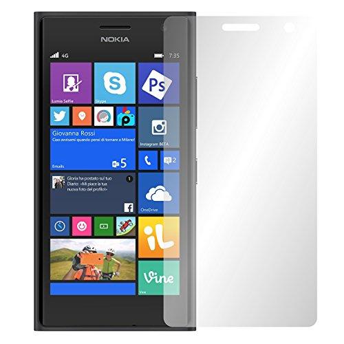 Slabo 2 x Bildschirmfolie für Microsoft Lumia 735 Bildschirmschutzfolie Zubehör Crystal Clear KLAR