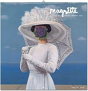 2022年 ラージカレンダー「MAGRITTE/マグリット」 壁掛け 画家 風景 アート スケジュール 英語 オランダ語 輸入雑貨