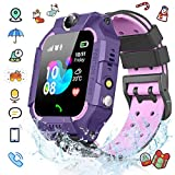 Smart Watch Phone for Child, Reloj Inteligente para Niños, Smartwatch niños, IP67 Smartwatch para niños con Pantalla Tácil de 1.44 Pulgadas, Rescate de emergencia SOS, Modo de Clase, Hacer Llamada, Chat de Voz,Cámara, Juegos, etc. La mejor opción para regalos de niños(2020 Nueva Versión, Púrpura)