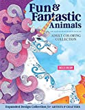 Hello Angel Fun & Fantastic Animals Adult Coloring Collection (Design Originals) 64 Designs of Unicorns, Lions, Fairies, & More, with a Beginner-Friendly Artist's Guide, Hints, Tips, & Color Palettes