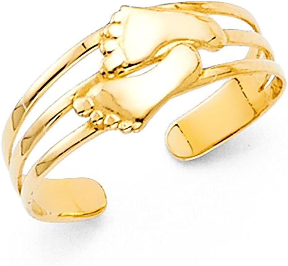 Jewels By Lux 14K Yellow Gold Toe Ring One Size Fits All Adjustable