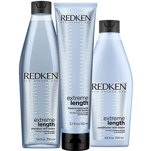 Redken Extreme Length Set mit Biotin - Shampoo 300ml + Conditioner 250ml + Treatment 150ml NEUE AUFMACHUNG SHAMPOO 300ML + CONDITIONER 300ML + TREATMENT 150ML