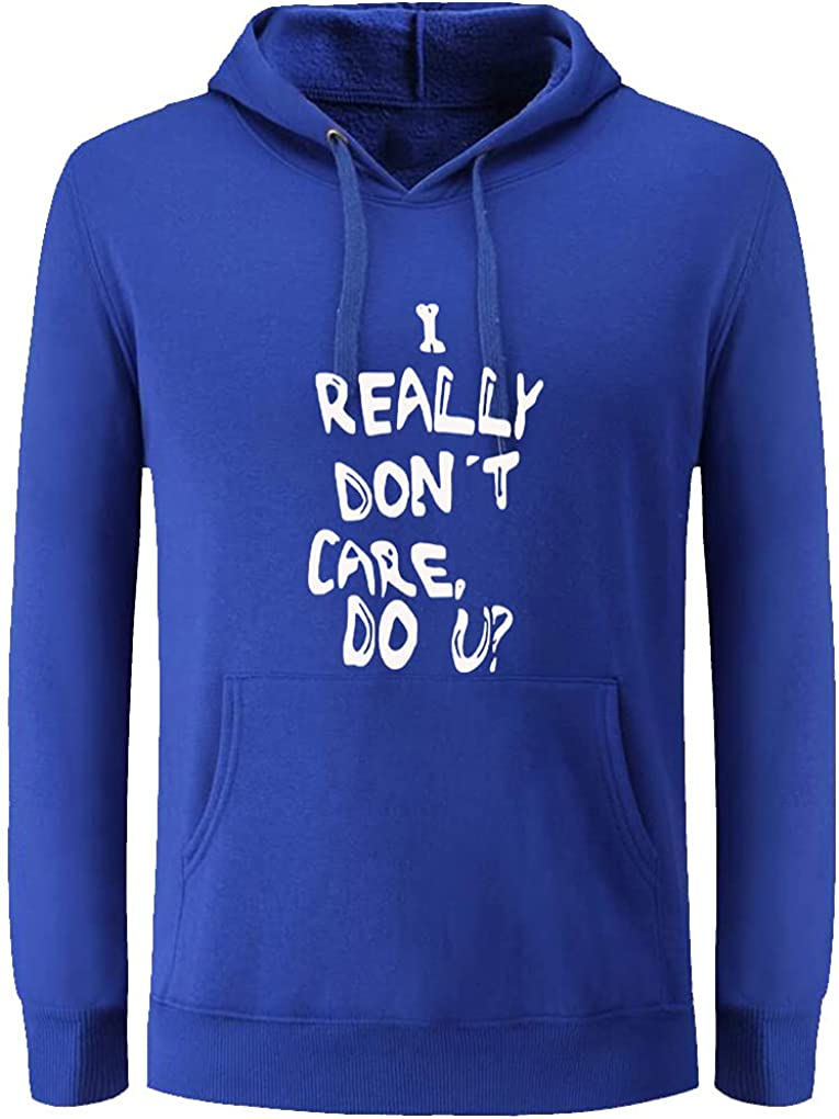 Unisex Clothes I Really Don't Care Do U Casual Loose Pullover