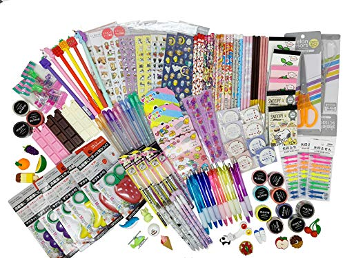 Fusion Kawaii Wonderful Japanese Signature 12-pc Stationery Set Bundle Assorted Items