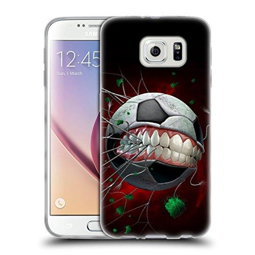 Head Case Designs Licenza Ufficiale Tom Wood Calcio Mostri Cover in Morbido Gel Compatibile con Samsung Galaxy S6