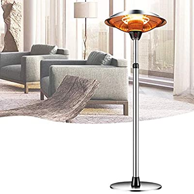 Outdoor Heaters for Patio Electric Only, Garage Heater Patio Heaters Electric Infrared Halogen Fire Tube Heater Three Adjustable Level Standing Heater For Party Balcony Garden 110V 1500w (air freight)