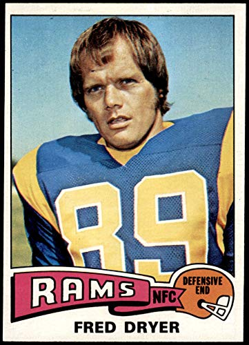 1975 Topps # 312 Fred Dryer Los Angeles Rams (Football Card) NM Rams San Diego St
