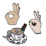 Juego de 3 broches de solapa esmaltados personalizados, para mochilas, bolsos, chaquetas, sombreros, joyas, accesorios de bricolaje