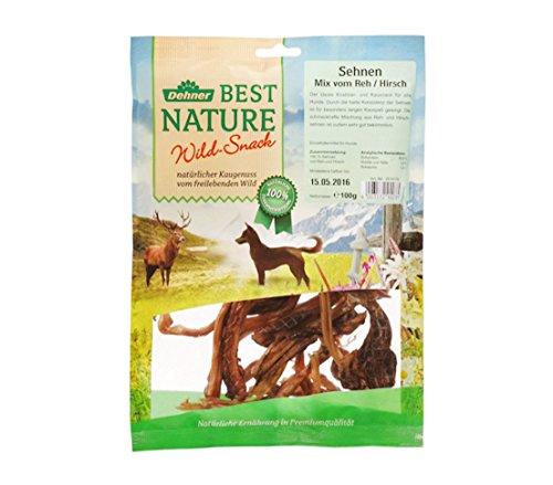 Dehner Best Nature Hundesnack, Sehnen von Reh und Hirsch, 100 g
