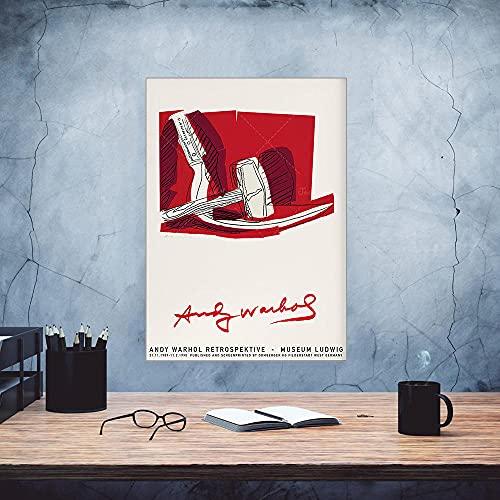 Andy Warhol Quadri martello falce astratto colorato ritratto celebrità testa poster pop arte poster vintage parete arte galleria mostra poster Decorazioni tela arte G28151