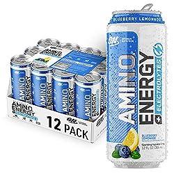 Optimum Nutrition Amino Energy + Electrolytes Sparkling Hydration Drink - Pre Workout, BCAA, Keto Fr
