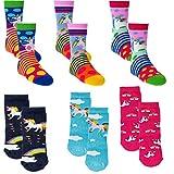 CundC KIDS Kinder Socken,19/22,Pony-Einhorn